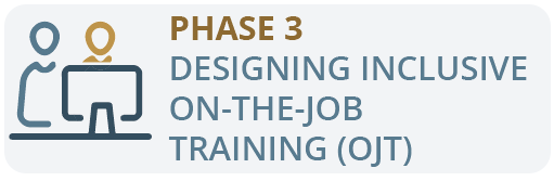 Phase 3: Designing Inclusive on-the-job training